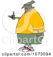 Clipart Black Gangster Gesturing Royalty Free Vector Illustration