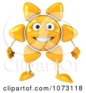 Clipart 3d Sun Character Royalty Free CGI Illustration