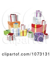 Clipart 3d Birthday Or Christmas Gift Boxes Royalty Free Vector Illustration