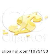Clipart 3d Liquid Gold USD Dollar Symbol Royalty Free Vector Illustration by AtStockIllustration