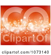 Clipart Red And Orange Background With Sparkly Bokeh Lights Royalty Free CGI Illustration
