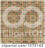 Clipart Grungy Colorful Polka Dot Background Royalty Free CGI Illustration