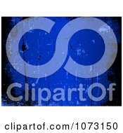 Clipart Blue And Black Grungy Background Royalty Free Vector Illustration