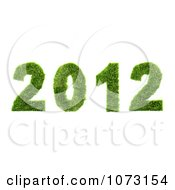 Clipart 3d Grassy 2012 New Year Royalty Free CGI Illustration