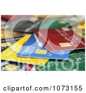 Clipart 3d Scattered Debit Or Credit Cards Royalty Free CGI Illustration by stockillustrations