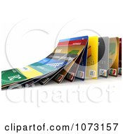 Clipart 3d Falling Debit Or Credit Cards Symbolizing The Domino Effect Royalty Free CGI Illustration by stockillustrations