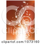 Clipart Glowing Flourish On Orange Royalty Free Vector Illustration by MilsiArt