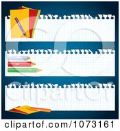 Clipart Graph Paper Back To School Banners Royalty Free Vector Illustration by MilsiArt