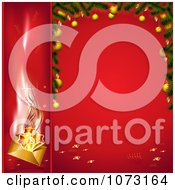 Clipart 3d Christmas Banner And Frame With Red Backgrounds Royalty Free Vector Illustration by MilsiArt