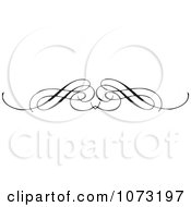 Clipart Intricate Black And White Swirl Border Rule 1 Royalty Free Vector Illustration