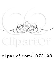 Clipart Intricate Black And White Swirl Border Rule 3 Royalty Free Vector Illustration