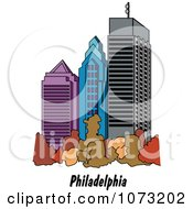 Clipart Skyscrapers In The City Of Philadelphia Pennsylvania Royalty Free Vector Illustration