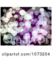 Clipart Sparkly Green And Purple Bokeh Lights Royalty Free CGI Illustration