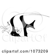 Clipart Black And White Moorish Idol Fish Royalty Free Vector Illustration by erikalchan