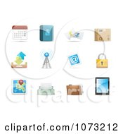Clipart 3d Web Browser Communication Icon Design Elements 2 Royalty Free Vector Illustration
