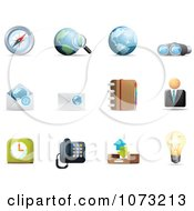 Clipart 3d Web Browser Communication Icon Design Elements 1 Royalty Free Vector Illustration