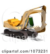 Clipart 3d Yellow Earth Mover Royalty Free CGI Illustration by Ralf61