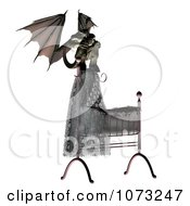 Clipart 3d Demon Over A Baby Crib 1 Royalty Free CGI Illustration