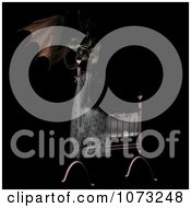 Clipart 3d Demon Over A Baby Crib 3 Royalty Free CGI Illustration