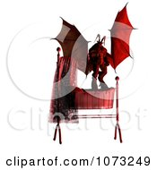 Clipart 3d Demon Over A Baby Crib 2 Royalty Free CGI Illustration