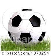 Clipart 3d Soccer Ball On Grass 1 Royalty Free CGI Illustration