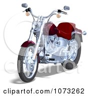 Clipart 3d Red And Silver Motorcycle 1 Royalty Free CGI Illustration