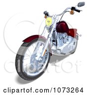 Clipart 3d Red And Silver Motorcycle 3 Royalty Free CGI Illustration