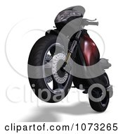 Clipart 3d Red And Black Motorcycle 3 Royalty Free CGI Illustration