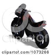 Clipart 3d Red And Black Motorcycle 4 Royalty Free CGI Illustration