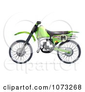 Clipart 3d Green Motocross Dirt Bike 2 Royalty Free CGI Illustration