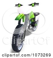 Clipart 3d Green Motocross Dirt Bike 3 Royalty Free CGI Illustration