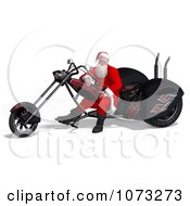 Clipart 3d Santa Riding A Chopper Motorcycle 1 Royalty Free CGI Illustration by Ralf61