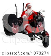 Clipart 3d Santa Riding A Chopper Motorcycle 2 Royalty Free CGI Illustration