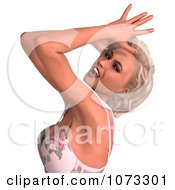 Clipart 3d Sexy Blond Pinup Woman Royalty Free CGI Illustration