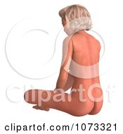 Clipart 3d Sexy Blond Pinup Woman In The Nude 11 Royalty Free CGI Illustration