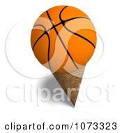 Clipart 3d Basketball Ice Cream Cone Royalty Free CGI Illustration