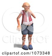 Clipart 3d Old Grandpa Senior Man Thinking Royalty Free CGI Illustration by Ralf61