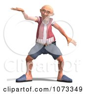 Clipart 3d Old Grandpa Senior Man Presenting Royalty Free CGI Illustration by Ralf61