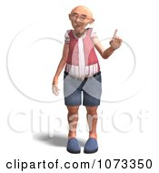 Clipart 3d Old Grandpa Senior Man Holding Up A Finger Royalty Free CGI Illustration by Ralf61