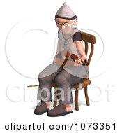 Clipart 3d Old Grandpa Senior Man Playing A Violin 6 Royalty Free CGI Illustration by Ralf61