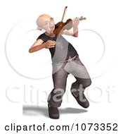 Clipart 3d Old Grandpa Senior Man Playing A Violin 7 Royalty Free CGI Illustration by Ralf61