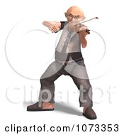 Clipart 3d Old Grandpa Senior Man Playing A Violin 8 Royalty Free CGI Illustration by Ralf61