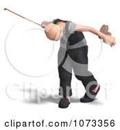 Clipart 3d Old Grandpa Senior Man Playing A Violin 4 Royalty Free CGI Illustration by Ralf61