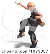 Clipart 3d Old Grandpa Senior Man Playing A Violin 5 Royalty Free CGI Illustration by Ralf61