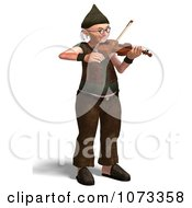 Clipart 3d Old Grandpa Senior Man Playing A Violin 2 Royalty Free CGI Illustration by Ralf61