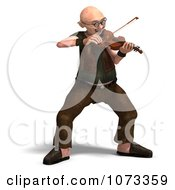 Clipart 3d Old Grandpa Senior Man Playing A Violin 1 Royalty Free CGI Illustration by Ralf61
