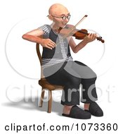 Clipart 3d Old Grandpa Senior Man Playing A Violin 3 Royalty Free CGI Illustration by Ralf61