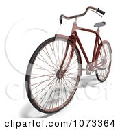 Clipart 3d Rusty Old Bicycle 4 Royalty Free CGI Illustration