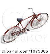 Clipart 3d Rusty Old Bicycle 5 Royalty Free CGI Illustration