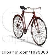 Clipart 3d Rusty Old Bicycle 6 Royalty Free CGI Illustration